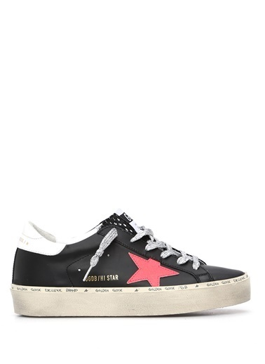 Golden Goose en Goose  Logolu Yıpratmalı Kadın Deri Sneaker 101540794 Kırmızı